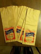 Vintage Gardner Coffee, Chicago, Paper Coffee Bag, 3 #, Colorful, Old Frameable