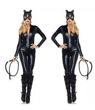 Deluxe femmes catwoman batman dark knight rises costume halloween robe fantaisie