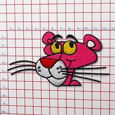 "THE PINK PANTHER ""Panthers"" Embroidered Iron-On Patch for Jackets etc"