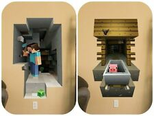 MINECRAFT 2 PACK LARGE WALL VINYL STICKER PACK (70CMX50CM)