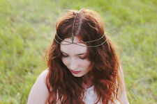 Bronze Head Chain Hair Jewellery Headpiece Hairband, bridal, festival