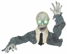 Halloween Crawling/Moving Zombie Groundbreaker/Light Up Eyes/Lights/Sound new