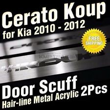 Hairline Metal Aluminum Door Sill Scuff Plate 2P for KIA 10-13 Forte Cerato Koup