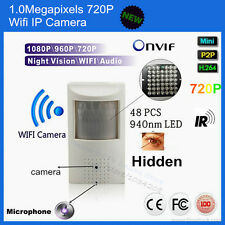 720P Audio Hidden Pir Mini IP Camera Wifi IR 940nm Led IR-CUT CCTV Network Cam