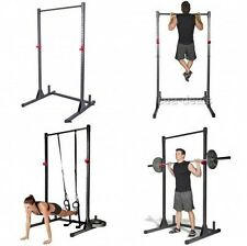 Pull Up Bar Exercise Stand Deadlift Curl Squat Home Fitness Workout Lifting Rack