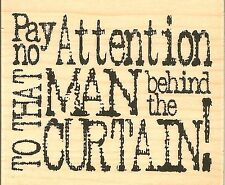 Wizard Of Oz Quote, Wood Mounted Rubber Stamp IMPRESSION OBSESSION - NEW, D3952