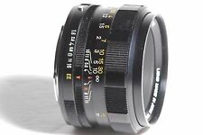Konica Hexanon AR 52mm f/1.8 Camera Lens SN 7872729 *AS-IS*
