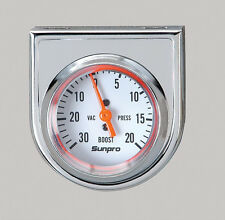 Sunpro Gauge, StyleLine Boost Vacuum 30 in. Hg/20 psi, 2 inch Analog Mechanical