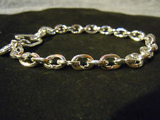 """NEW 9"""" PURE SILVER .999 MENS BRACELET BLING SERIES BY ANARCHY PM JEWELRY #E226"""