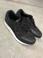 Nike Air Max 1 Woven Black Men Size 9.5 US, 8.5 UK, EUR 43
