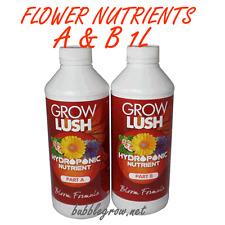 GROWLUSH HYDROPONICS COCO BLOOM FLOWER PART A&B 1L NUTRIENT
