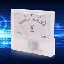 Professional DC 0-20V Square Analog Volt Voltage Panel Meter Voltmeter Gauge UX
