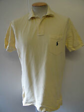 "Genuine Vintage Ralph Lauren men's Yellow Polo Shirt Size 38-40"" M"