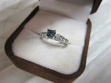 STUNNING ESTATE 14 KT GOLD .88 CTW VIVID BLUE DIAMOND RING !!!!!!!!!!