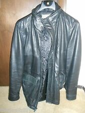 Pelle Studio Men's Black Leather Jacket L Large Preowned