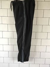MENS BLACK VINTAGE CHAMPION SHELLSUIT TRACKSUIT BOTTOMS JOGGERS SWEATPANTS UK M