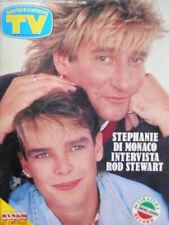 TV Sorrisi e Canzoni n°44 1986 Stephanie di Monaco Rod Stewart  [C67]