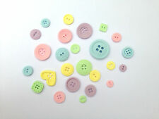 25 Edible Pastel Buttons Christening Birthday Cake Toppers