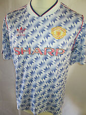 Manchester United Man Utd 1990-1992 Away Football Shirt Size Adult Large