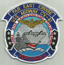 USS MIDWAY CV-41 FAR EAST CRUISE YOKOSUKA MILITARY PATCH