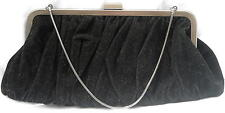 Vintage Mary Kay Black Velvet Bag W/ Pretty Pink Interior Ships Free in the USA