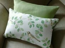One Laura Ashley Aviary Garden/Bacall Apple Green Fabric Cushion Cover