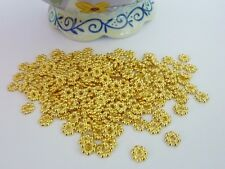 200 pce Antique Gold Daisy Spacer Beads 6mm