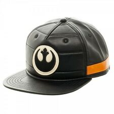 Star Wars Black Squadron Snapback Faux Leather Rebel Logo Cap Hat  Rogue One NEW