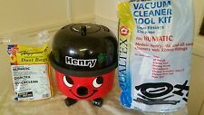 NUMATIC HENRY HVR200  CYLINDER VACUUM CLEANER,NEW TOOLS,BAGS. OLDER HIGH WATTAGE