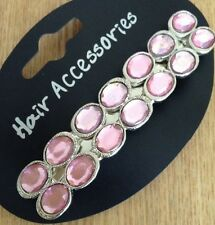 A Beautiful Baby Pink Metal Barrette Hair Clip