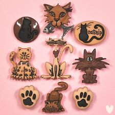 DRESS IT UP Buttons Alley Cat 3118 - Cats Cat kitten