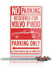 Volvo P1800 Coupe Reserved Parking Only - 12x18 Aluminum Sign - Swedish Car