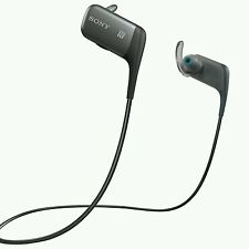 Sony MDR-AS600BT In-Ear Only Wireless Headphones - Black. FREE POSTAGE.