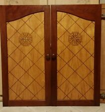 Hudson River Inlay Compass Rose Nelson marquetry wood cabinet panel doors