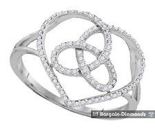 Celtic Diamond .17 carat love knot heart toroid 10K white gold ring