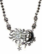 KIRKS FOLLY DARK and STORMY MAGNETIC INTERCHANGEABLE NECKLACE antique silvertone