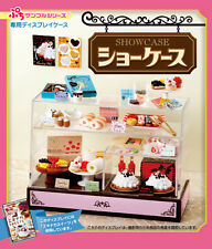 Re-Ment Miniature Supermarket Cake Shop Showcase Fridge Set