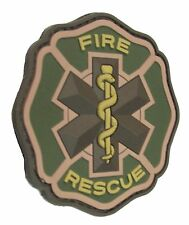 FIRE & RESCUE 3D PVC EMS MEDIC RED CROSS MORALE MULTICAM HOOK & LOOP PATCH