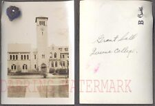 Vintage Photo Queen's College Grant Hall w/ Pledge Pin Ontario Canada 705025