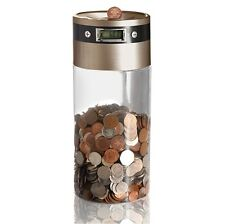 Supersize Digital Money Savings Bank, UK Coin Counter Money Box Gift