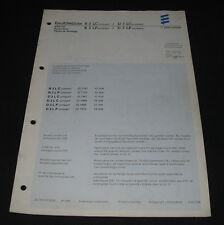Ersatzteilliste Eberspächer Parts List Luftheizgerät B3LC B3LP D3LC D3LP 06/1996