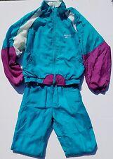Reebok Warm Track Sweat Suit Blue White purple Jogging Pant Jacket Set 90's