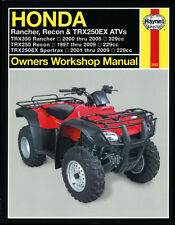 Haynes Repair Manual 2553 Honda TRX250 Recon,TRX250EX Sportrax & TRX350 Rancher