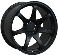 17X8.25 XXR 551 WHEELS 5X100/114.3 +22 FLAT BLACK RIM FITS ACURA TYPE R 1997-01