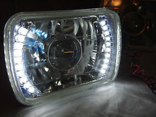 86-95 JEEP WRANGLER YJ GLASS HEAD LIGHTS PROJECTOR LED HEADLIGHTS H4