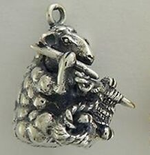 Sterling Silver Handmade .925 Knitting Sheep Charm