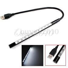 USB 10 LED Ampoule Lumière Flexible portable bureau Ordinateur Lecture Lamp Noir