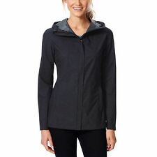 NWT 32 Degrees Womens Rain Jacket Coat SMALL Black Waterproof TLS72017CO UPF 30+