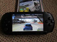 Sony PSP E1004 Street + OVP (Playstation Portable Konsole in schwarz) + 5 Spiele