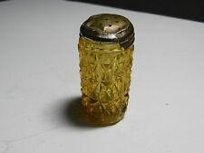 "Central Glass Diamond Pressed Amber EAPG Shaker 2 3/4"" T ca 1885-1891"